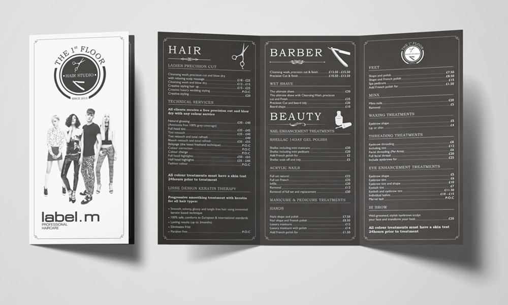 1st-Floor-Hair-Studio-Tri-fold-Leaflet