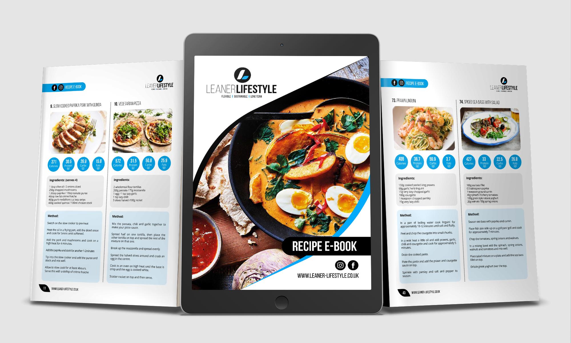 Leaner Lifestyle e-book Mockup
